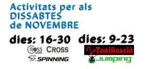 activitats novembre dissabte centre esportiu el moli